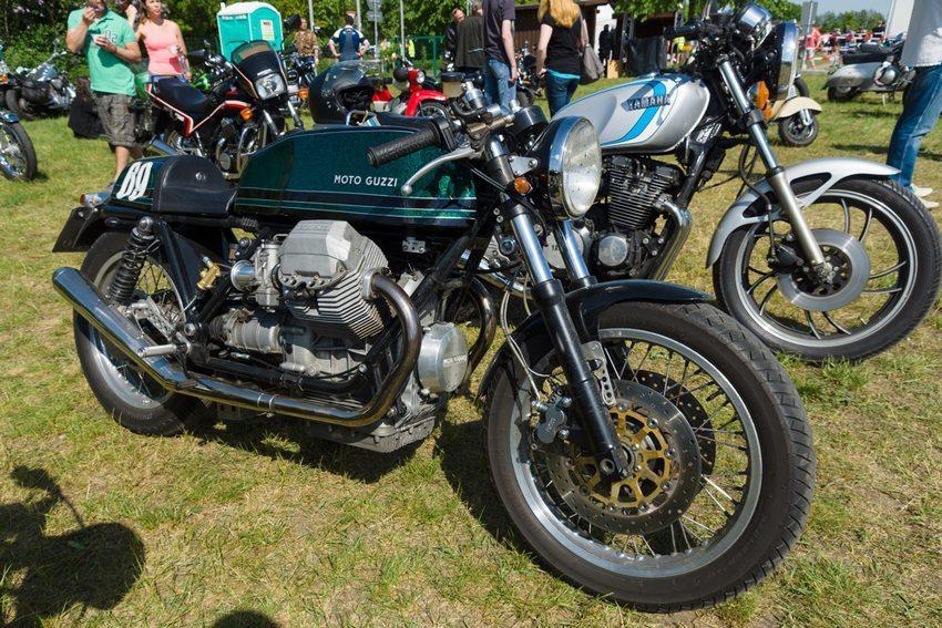 """Moto Guzzi auf """"The Oldtimer Show"""" in Paaren im Glien, Deutschland im Mai 2013 (Bild: Bocman1973 / Shutterstock.com)"""