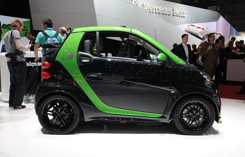 Smart Electric Drive auf dem Genfer Autosalon 2014 (Bild: Norbert Aepli, Wikimedia, CC)