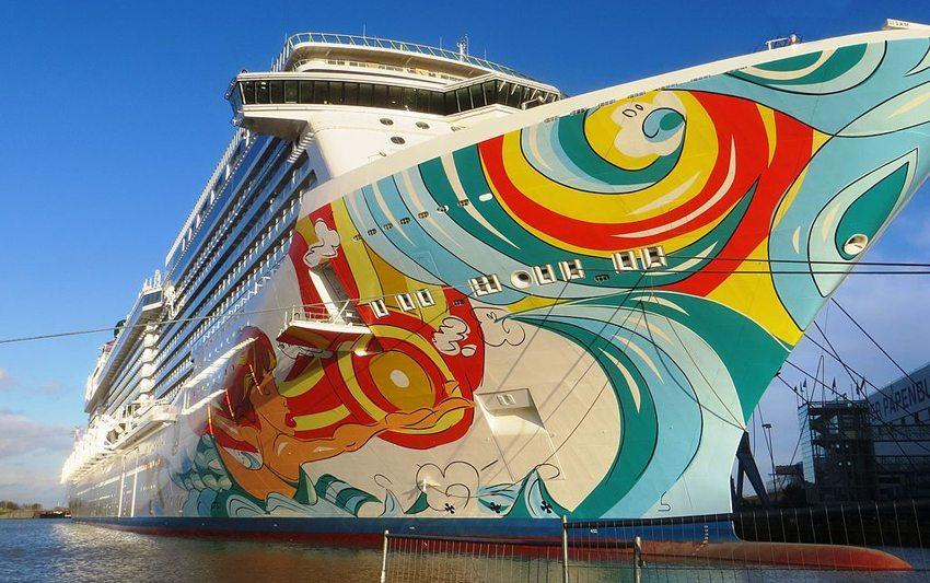 Die kürzlich getaufte Norwegian Getaway ist ein Luxus-Kreuzfahrtschiff. (Bild: Dickelbers, Wikimedia, CC)