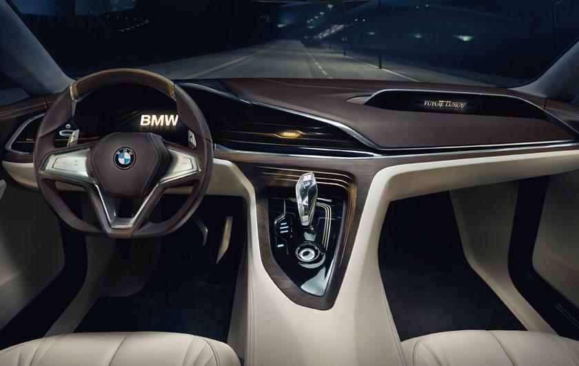 Fahrercockpit der BMW-Studie Future Luxury (Bild: © BMW AG, München (Deutschland))