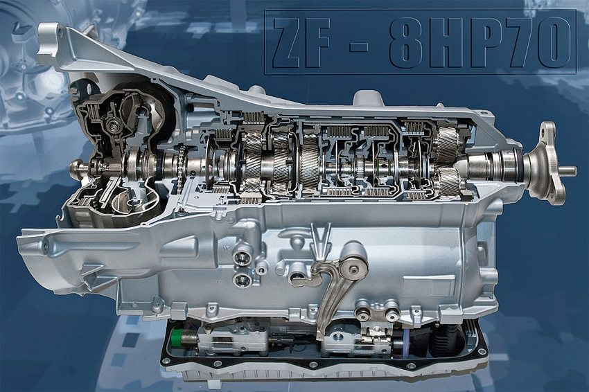 Acht-Gang-Stufenautomatgetriebe der ZF Friedrichshafen AG (Bild: Stefan Krause, Wikimedia, CC)