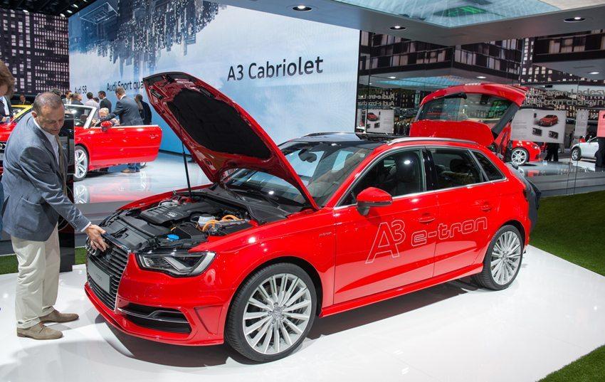Audi A3 e-tron auf der IAA in Frankfurt im September 2013 (Bild: lexan / Shutterstock.com)