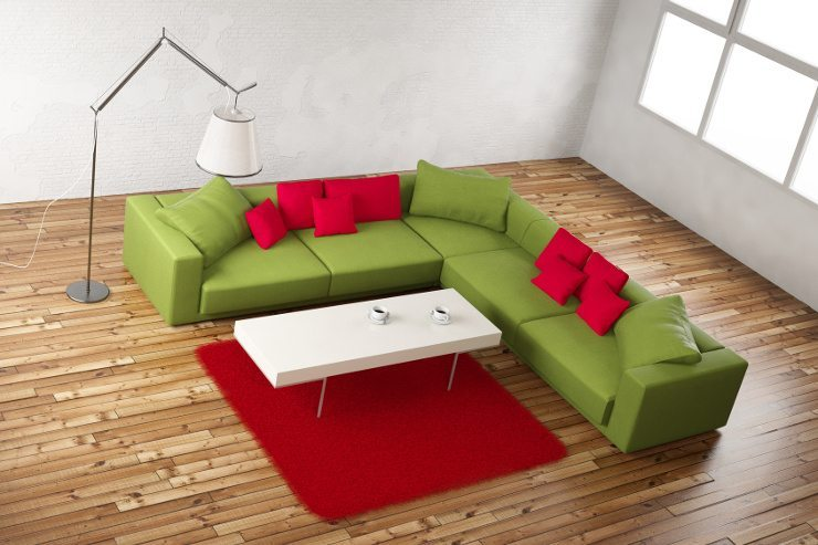 Ein Sofa in L-Form bietet viel Platz für liebe Gäste. (Bild: © F. Schmidt - Fotolia.com)