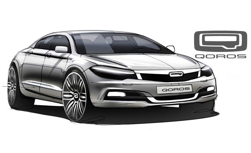 Qoros 9 Sedan Concept - entwickelt aus einer Design-Abschlussarbeit (Bild: Qoros Automotive Co., Ltd)