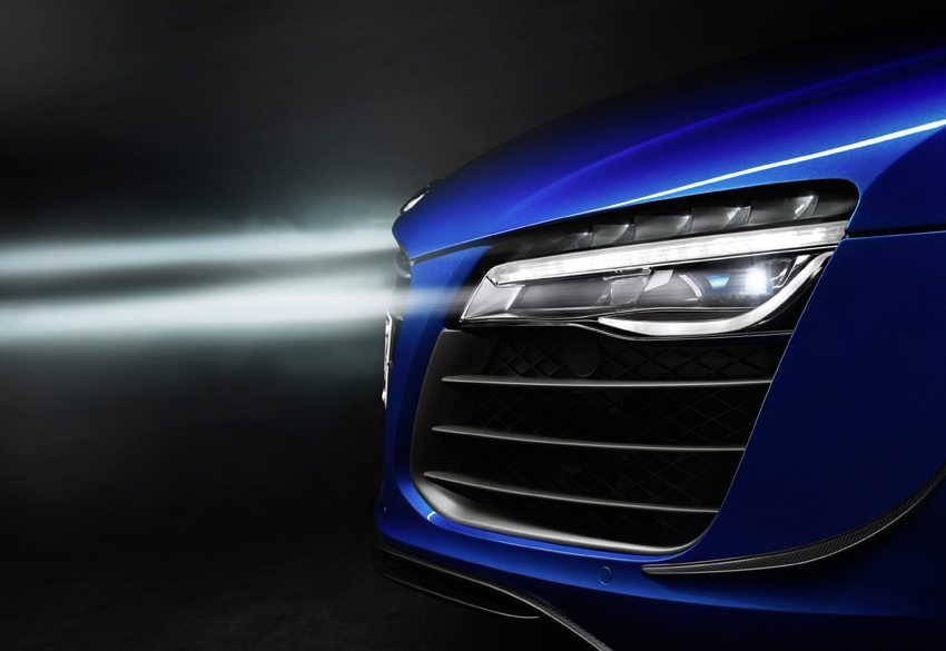 Audi R8 LMX ist mit der Laserlichttechnik ausgestattet. (Bild: Audi AG)