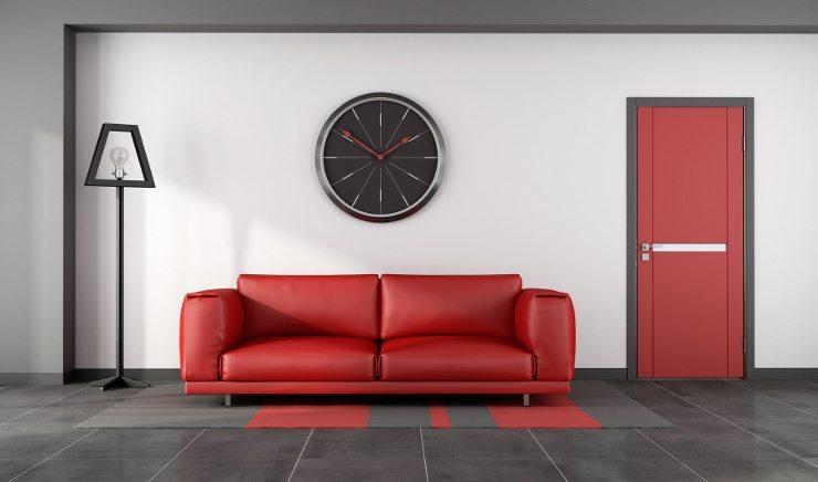 Ein rotes Ledersofa spendet Energie und Ruhe. (Bild: © archideaphoto - fotolia.com)