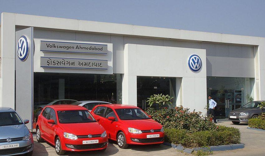 VW-Showroom in Ahmedabad, Indien (Bild: Maulik Kansara, Wikimedia, CC)
