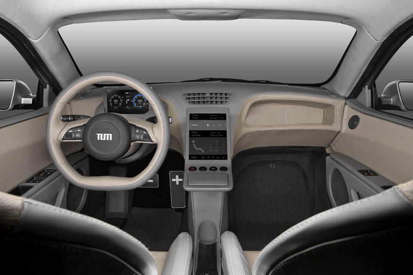 E-Car Visio.M – Innenraumansicht (Bild: TUM Technische Universität München)
