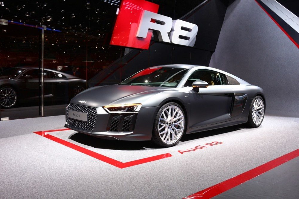 Audi R8 auf dem Genfer Autosalon 2015 (Bild: agentur belmedia)