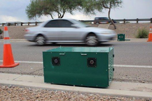 Remote Sensing Technologie misst Abgaswerte an Millionen Fahrzeugen im Strassenverkehr. (Bild: © obs/Opus Inspection Inc.)
