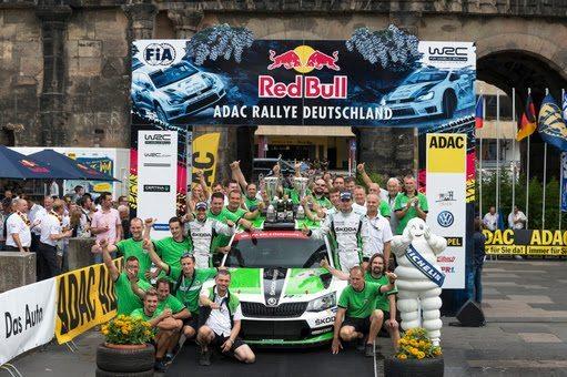 Die tschechischen Rallye-Meister Jan Kopecký/Pavel Dresler (CZ/CZ) feierten bei ihrem letzten WRC 2-Auftritt einen souveränen Sieg bei der Rallye Deutschland.