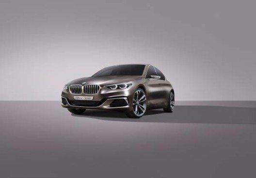 Das charakterstarke Design des BMW Concept Compact Sedan verkörpert die sprichwörtliche Freude am Fahren.