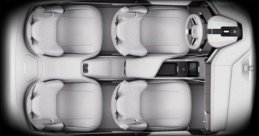 Dem Volvo Concept 26 liegt eine völlig neue Interieur-Gestaltung zugrunde.