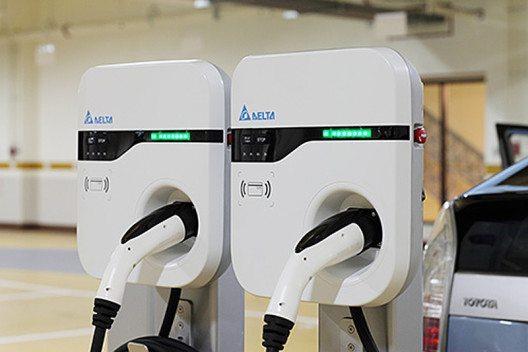 Schnellladestation für Elektrofahrzeuge von Delta Electronics. (Bild: © Delta Electronics, Inc.)