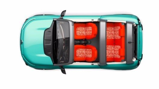 Der Citroën ist ein rein elektrisch angetriebenes, viersitziges Cabriolet voller Energie mit einem modernen, fröhlichen Styling.