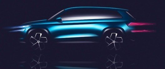 Die SUV-Designstudie SKODA VisionS auf dem Auto-Salon Genf 2016.