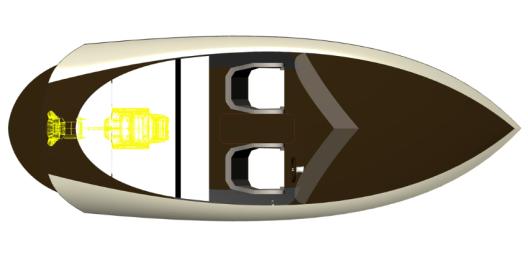 Das kompromisslose 6 Meter lange Sportboot ist für 6 Personen zugelassen. (Bild: Kaiser Bootsmanufaktur)