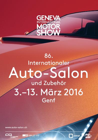 Der Internationale Automobil-Salon Genf findet vom 3. - 13. März 2016 statt. (Bild: © salon-auto.ch)