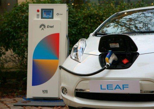 Zusammenarbeit von Nissan und Enel (Bild: © NISSAN CENTER EUROPE GmbH)