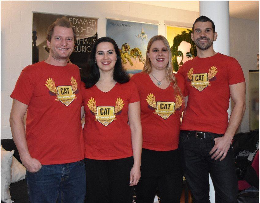 Das Orga-Team; ganz links: CATrophy-Gründer Chris Huber