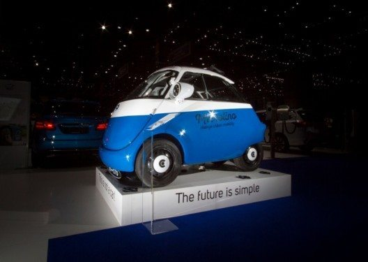 Der Microlino in Genf (Bild: © Micro Mobility Systems AG)