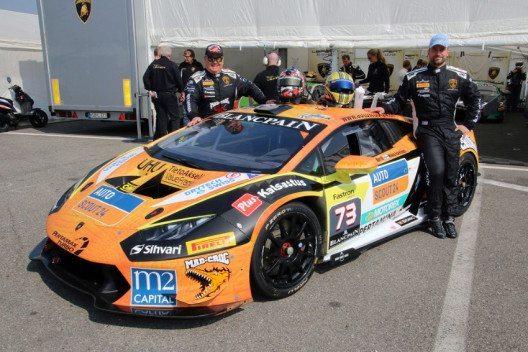 Fredy Barth und Mikko Eskelinen überzeugten beim Saisonauftakt der Lamborghini Super Trofeo Series. (Bild: FB Trading and Consulting GmbH / Ivana Bogojevic)