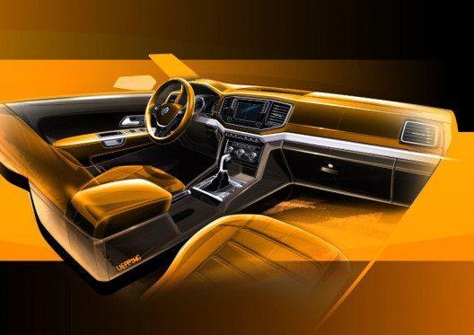 Erste Skizzen des Volkswagen Nutzfahrzeuge Designs (Bild: AMAG Automobil- und Motoren AG)