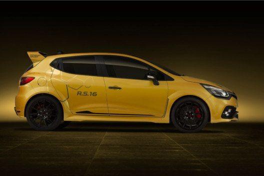 Der Clio R.S.16 verfügt über eine spektakuläre Optik. (Bild: Renault Communications)