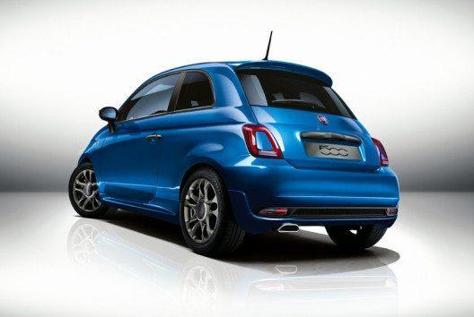 Die markante Optik des neuen Fiat 500S (Bild: Fiat Chrysler Automobiles)