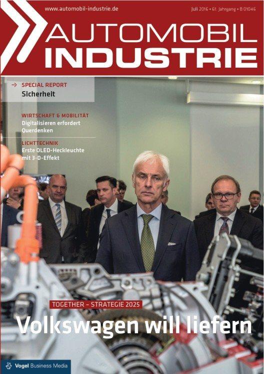"""Die Fachzeitschrift """"Automobil Industrie"""" nimmt die Pläne unter die Lupe. (Bild: © Vogel Business Media)"""