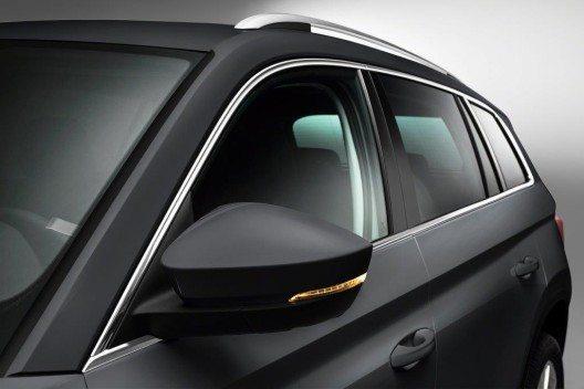 Erstmalig in einem ŠKODA fährt der erste grosse SUV der Marke auf Wunsch auch mit sieben Sitzen vor. (Bild: ŠKODA AUTO)