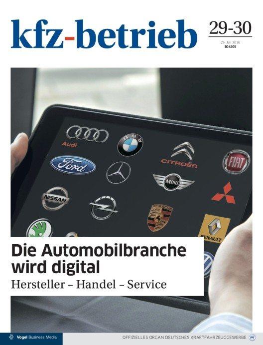 """""""kfz-betrieb"""" nimmt die digitale Entwicklung in der Branche unter die Lupe. (Bild: © Vogel Business Media)"""