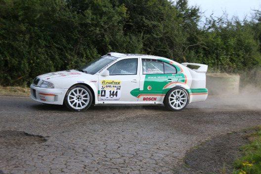Mit dem Turbo-Allradler OCTAVIA WRC gewannen Matthias Kahle/Peter Göbel 2002 und 2004 die Deutsche Rallye-Meisterschaft. (Bild: © ŠKODA AUTO Deutschland)