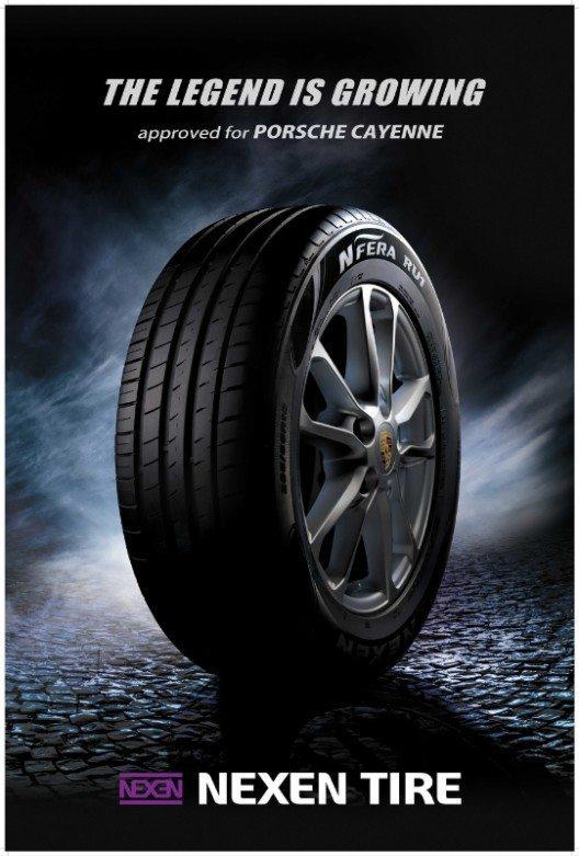 Neue Reifen für den Porsche Cayenne (Bild: © Nexen Tire)