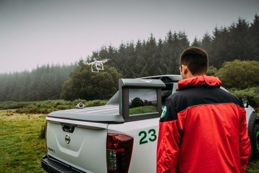 Die Drohne – das Modell DJI Phantom 4 – kann in bis zu 6'000 Metern Höhe betrieben werden.