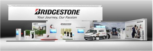 Der Bridgestone Messestand auf der IAA Nutzfahrzeuge 2016