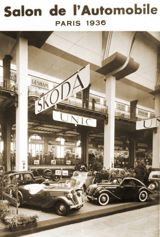 Internationale Messepremiere vor 80 Jahren: der ŠKODA POPULAR Sport Monte Carlo. Am 1. Oktober 1936 stellte sich der ŠKODA POPULAR Sport Monte Carlo den Besuchern des 20. Autosalons in Paris vor. (Bild: ŠKODA)