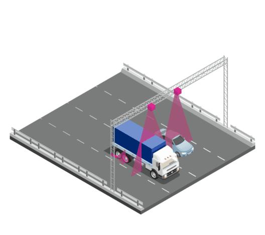Illustration der Achserfassung (Bild: Hochschule Luzern – Technik & Architektur / Sick System Engineering)
