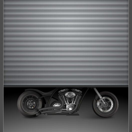 Die passende Garage fürs Motorrad (Bild: Es sarawuth - shutterstock.com)