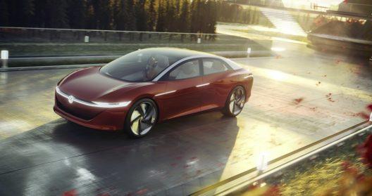 2018: Der Prototyp der elektrischen Oberklassen-Limousine I.D. Vizzion.